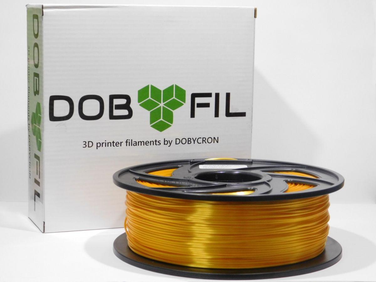 DOBYFIL filament, PLA+, 1,75mm, 1kg, zlatá