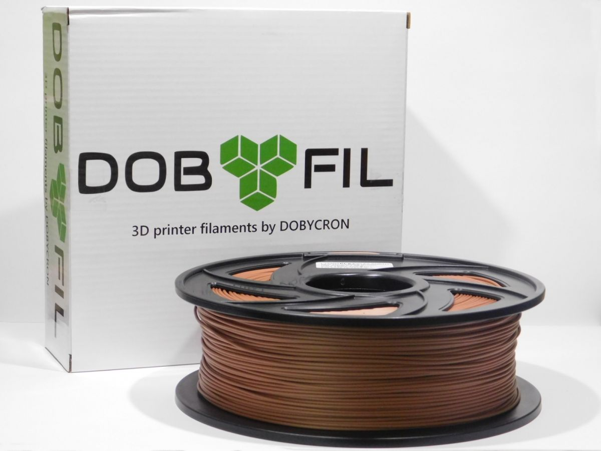 DOBYFIL filament, PLA+, 1,75mm, 1kg, hnědá
