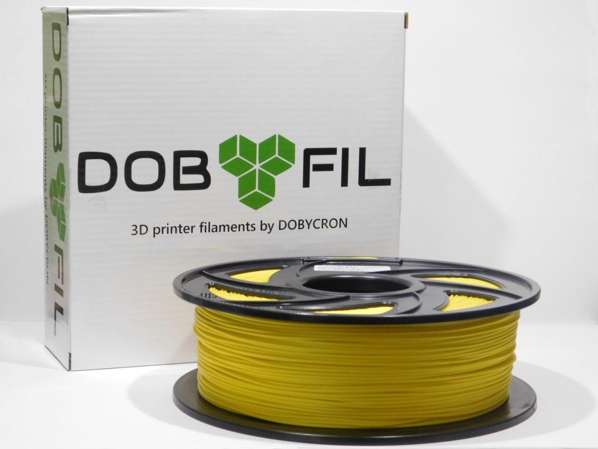 DOBYFIL filament, PLA+, 1,75mm, 1kg, žlutá