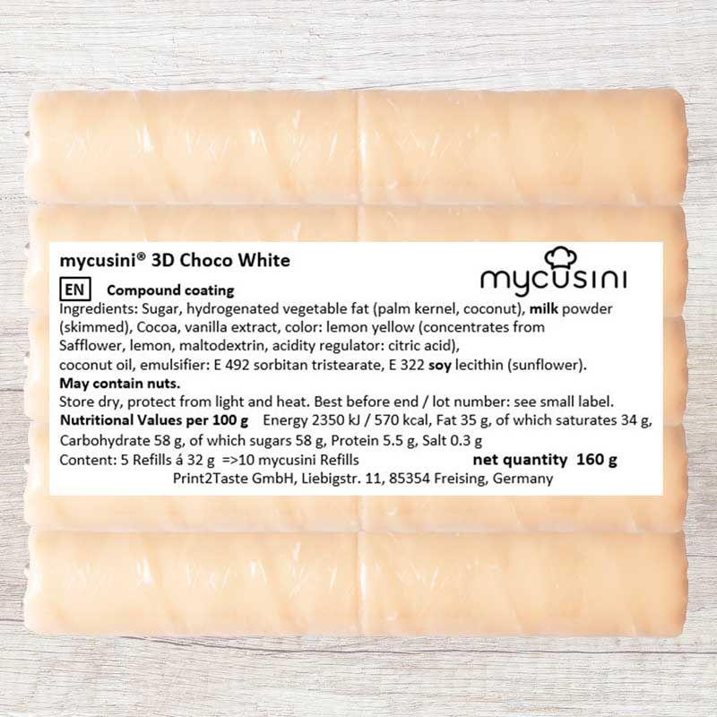 3D Choco White 160g
